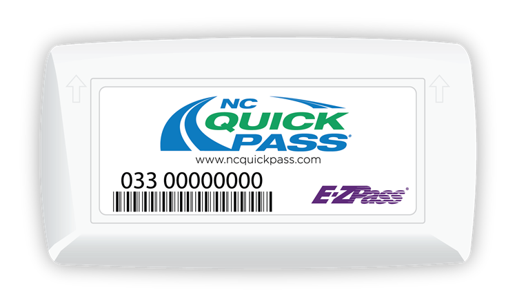 NC Quick Pass hard-case transponder